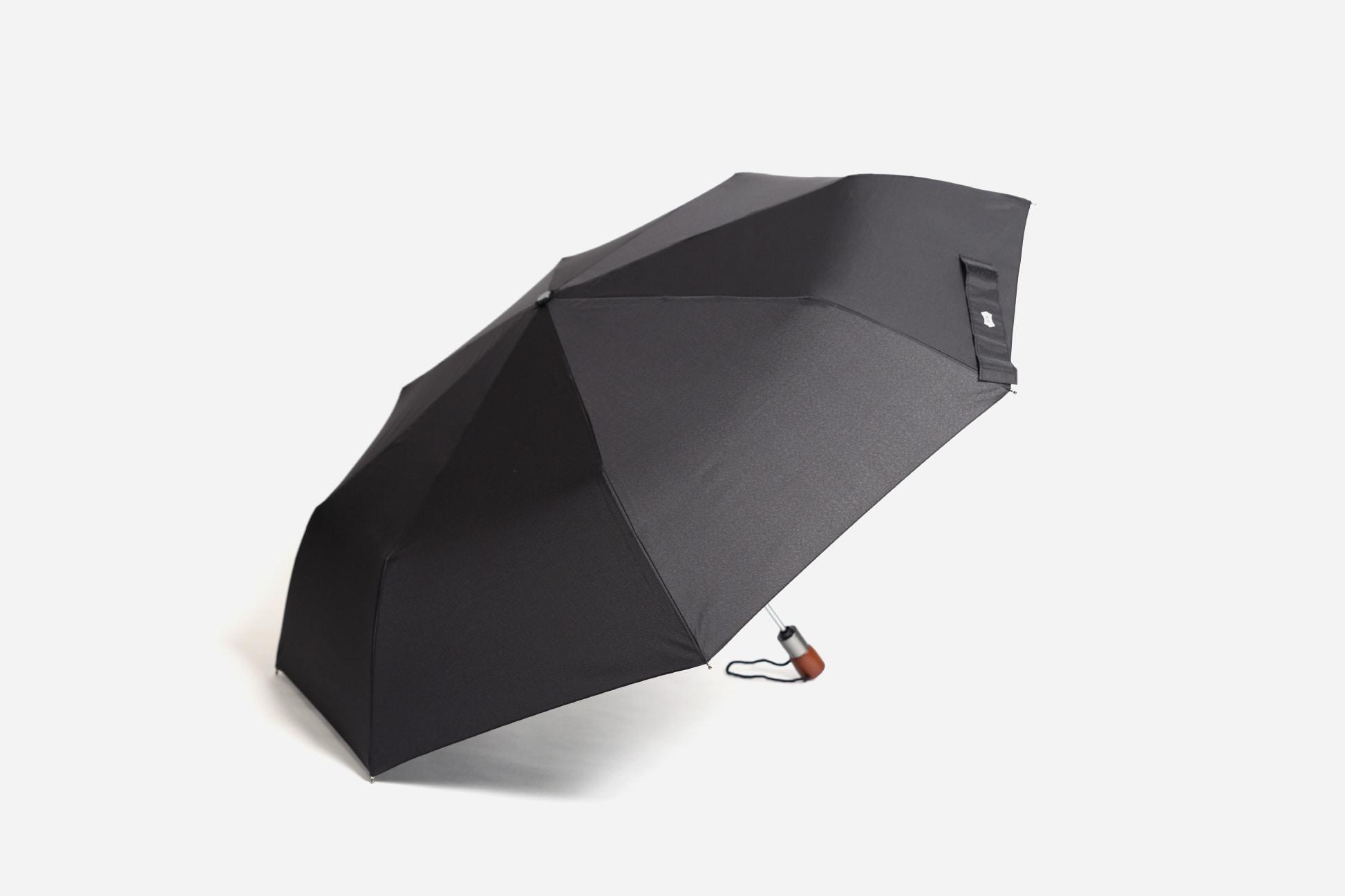 파라체이스(PARACHASE) 3254 프리미엄 우드 그립 자동 3단우산 - 여행용 파우치 포함