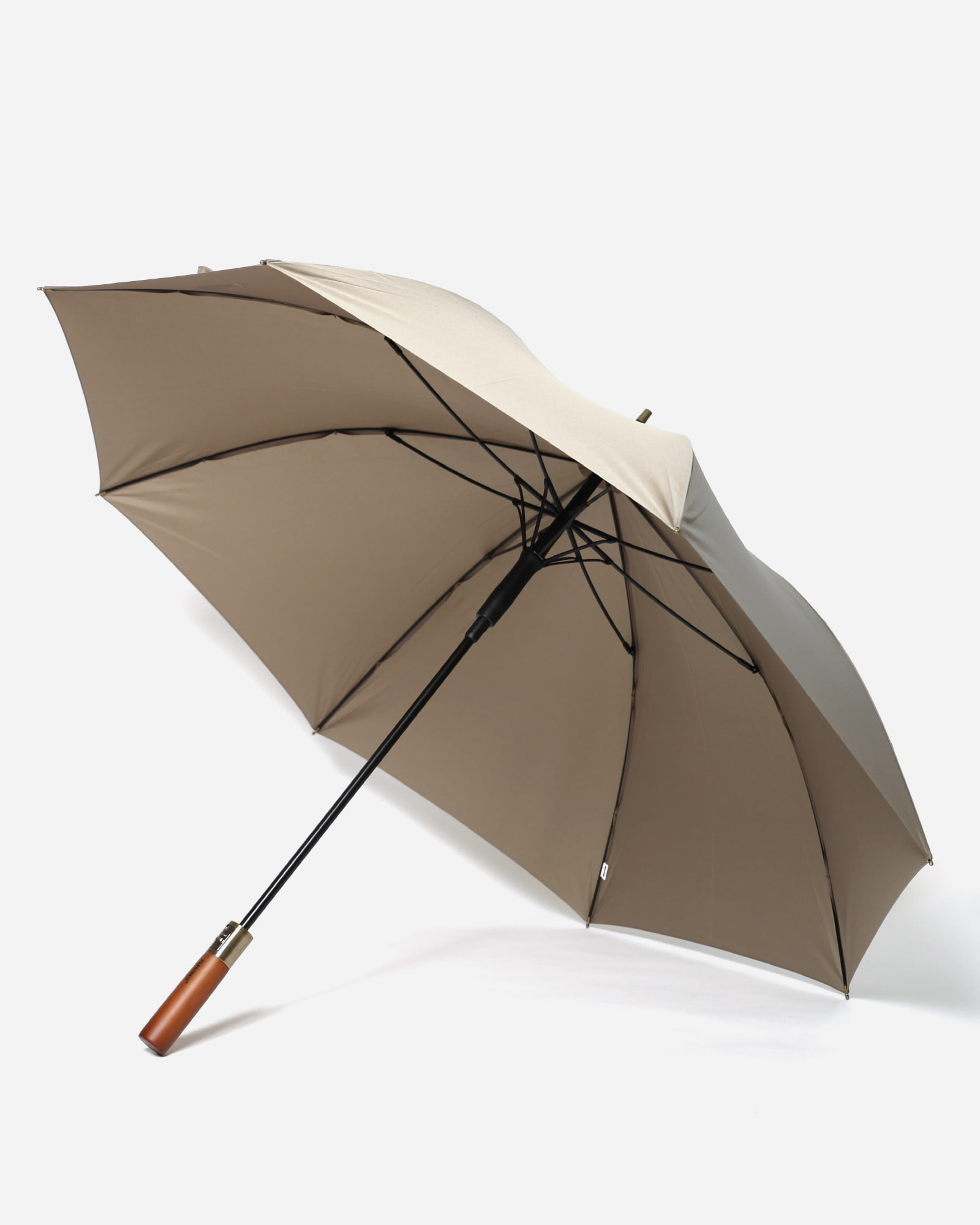 파라체이스(PARACHASE) 1116 슬라이딩 오토 버튼 우드그립 장우산