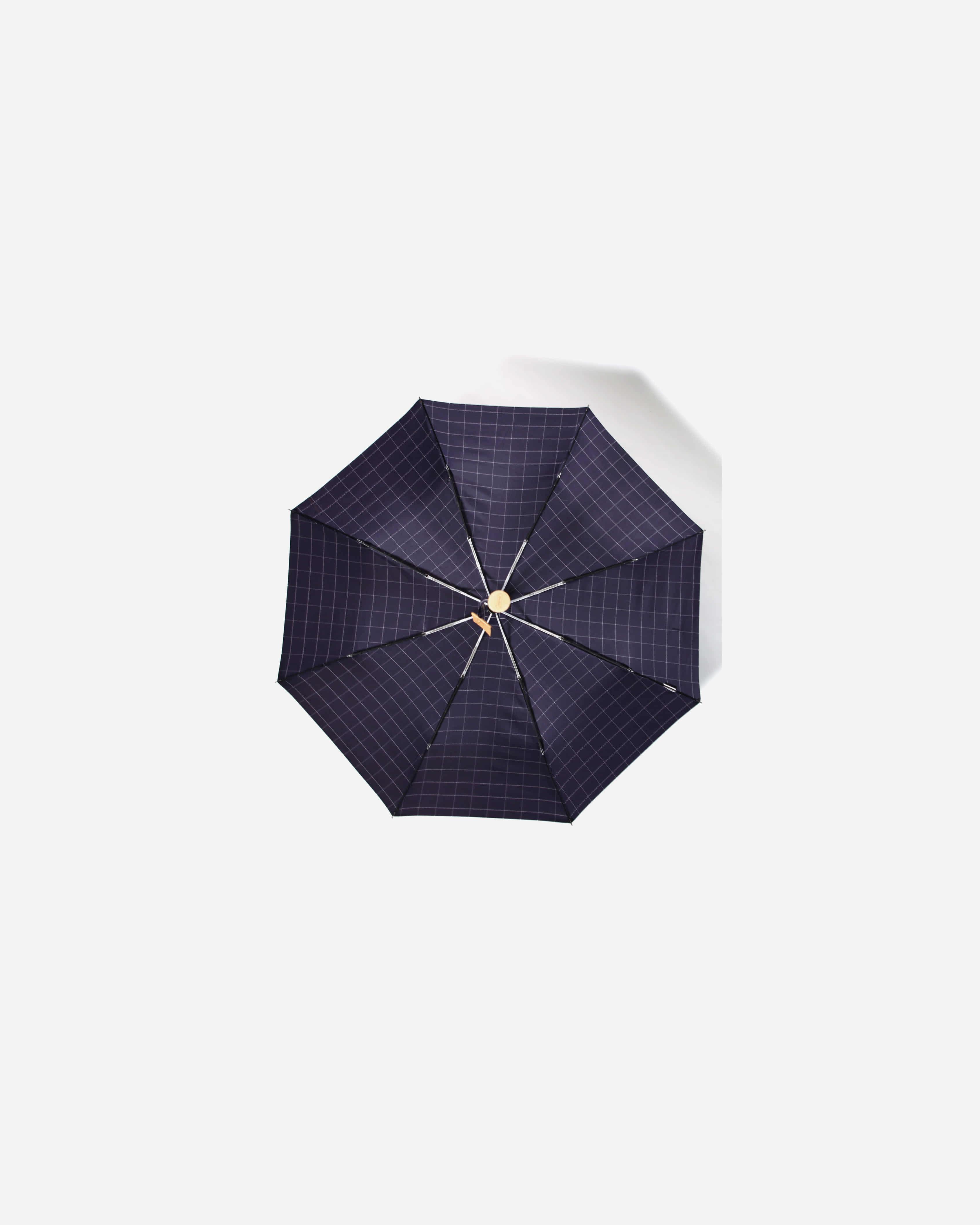 파라체이스(PARACHASE) 3256 코튼 체크 패브릭 포플러 전자동 3단 우산 양산 겸용